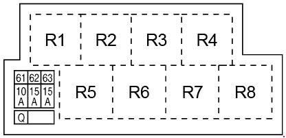 2008–2017 Infiniti S51 - FX35, FX50, QX70 Fuse Box Diagram