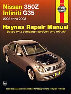 infiniti g35 and nissan 350z haynes repair manual · fuse box