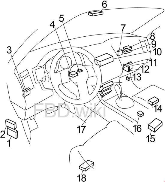 03-'08 infiniti fx35 and fx45 fuse box diagram  knigaproavto.ru