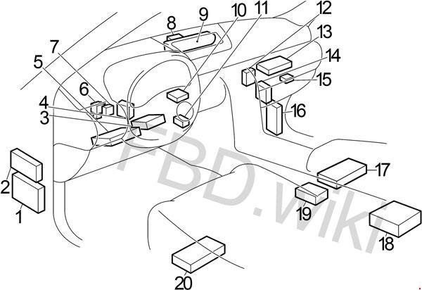 2002-2007 Infiniti G35 Fuse Box Diagram