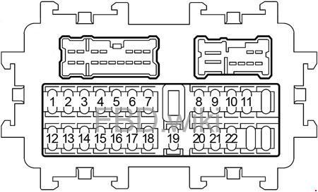 2006-2010 Infiniti M35, M45 Fuse Box Diagram