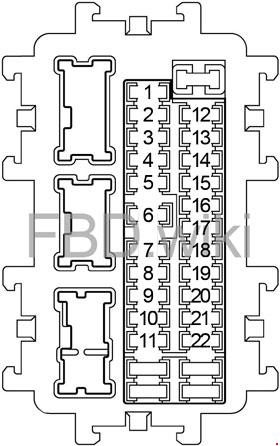 2011-2018 Infiniti M37, M56, Q70, M35h Fuse Box Diagram