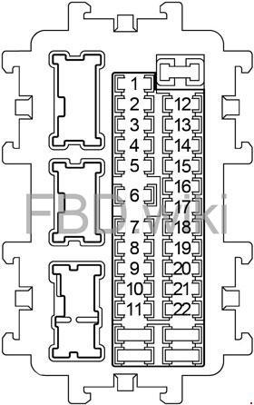 Схема предохранителей Infiniti M37, M56, Q70, M35h (2010-2018)