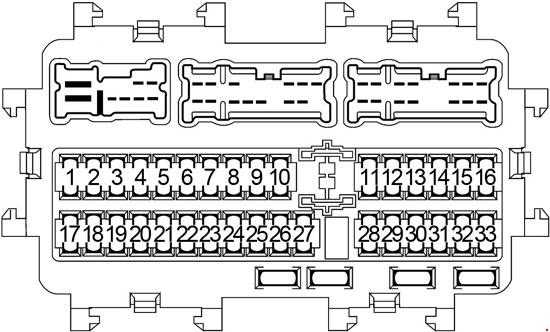infiniti jx35 & qx60 (2012-2017) fuse box diagram  knigaproavto.ru