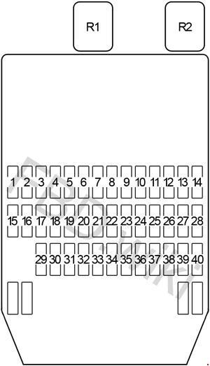 Infiniti Q45 (Y33; 1997-2001) Fuse Box Diagramknigaproavto.ru