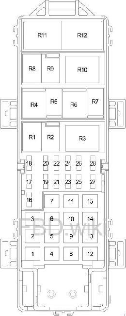 99-'04 Jeep Grand Cherokee WJ Fuse Box Diagramknigaproavto.ru