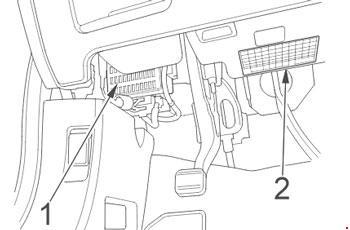 Схема предохранителей Honda CR-V (2006-2011)