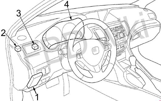 Схема предохранителей Acura TSX (2008-2014)