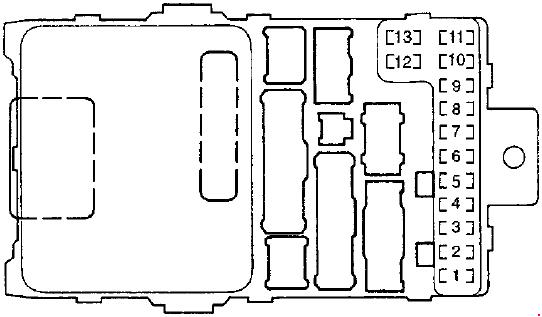 97-'02 honda accord fuse diagram  knigaproavto.ru