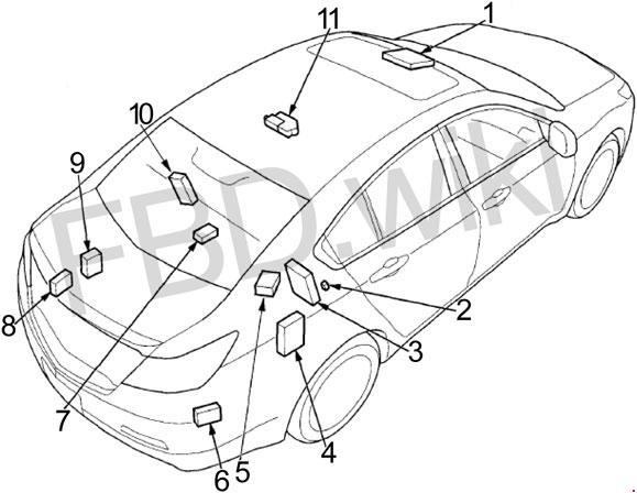 Acura TL (2009-2014) Fuse Box Diagram