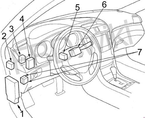 [QMVU_8575]  Acura TL (2004-2008) Fuse Box Diagram   2008 Acura Tl Wiring Diagram      knigaproavto.ru