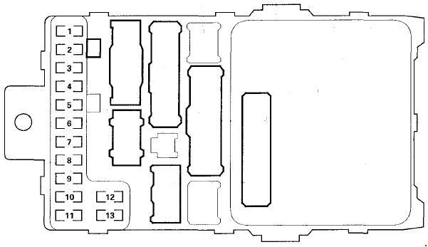 99-'03 Honda Odyssey Fuse Diagramknigaproavto.ru