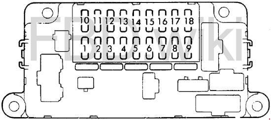 Схема предохранителей Honda Prelude (1982-1987)