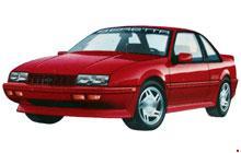 1987-1996 Chevrolet Beretta and Corsica Fuse Box Diagram