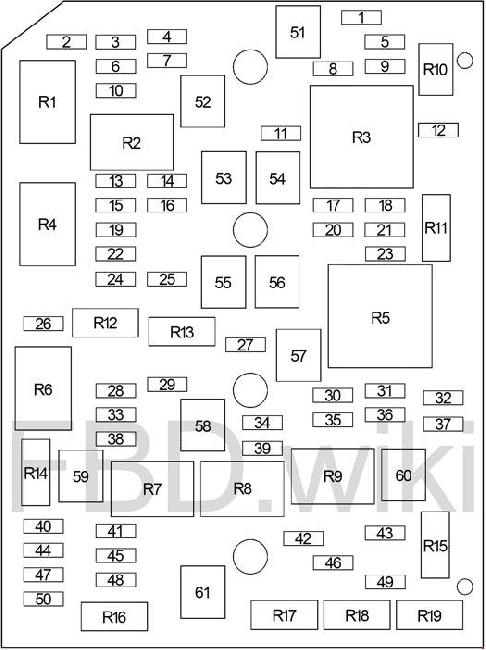 Chevrolet Impala (2006-2013) Fuse Box Diagram | 2008 Chevrolet Impala Fuse Box Diagram |  | knigaproavto.ru