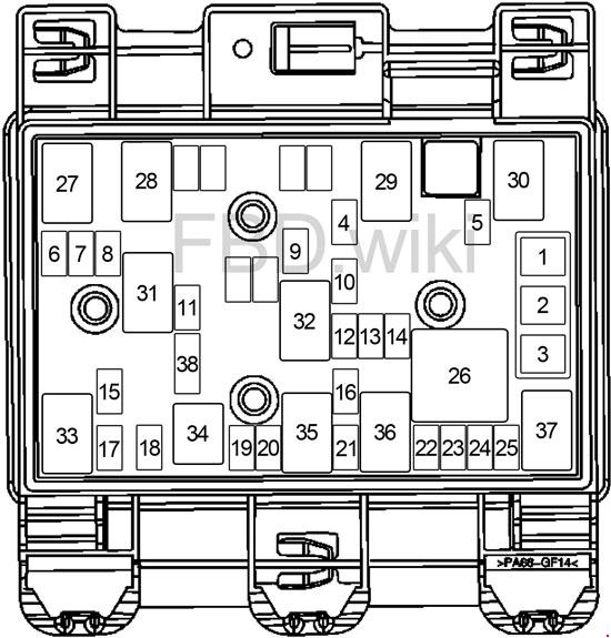 2007-2010 Saturn Aura Fuse Box Diagram