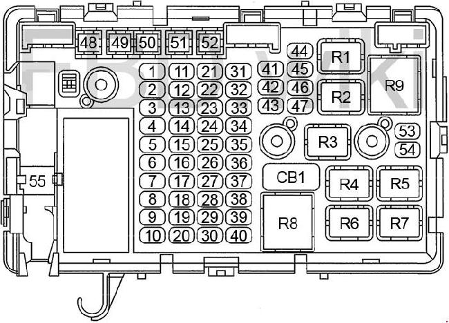 [TVPR_3874]  03-'07 Chevy Express and GMC Savana Fuse Box Diagram | 2007 Gmc Savana Fuse Box |  | knigaproavto.ru