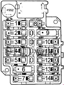 1976-1979 Cadillac Seville Fuse Box Diagram