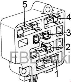 1973-1976 Ford Bronco Fuse Box Diagram