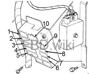 1975-1978 Ford E100, E150, E250, E350 Fuse Box Diagram