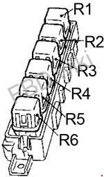 90-'94 nissan sentra (b13) fuse box diagram  knigaproavto.ru