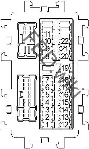2011-2016 Nissan Quest Fuse Box Diagram