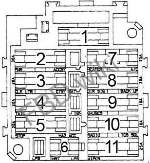 Chevrolet Chevette Fuse Box Diagram
