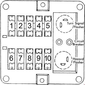 72-'74 dodge d/w 100, 200, 300 fuse box diagram  knigaproavto.ru