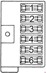 1971-1978 Dodge B100, B200, B300 Fuse Box Diagram
