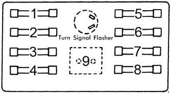 1964-1970 Dodge A100 Fuse Box Diagram