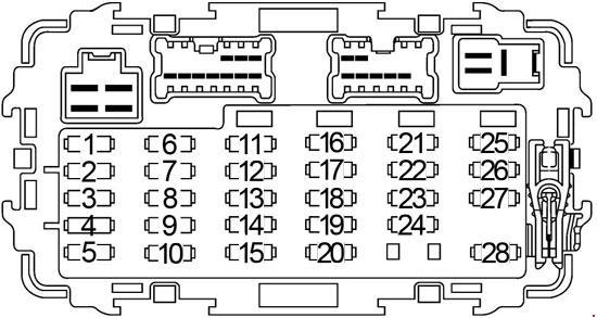 1997-2004 Nissan Frontier Fuse Box Diagram