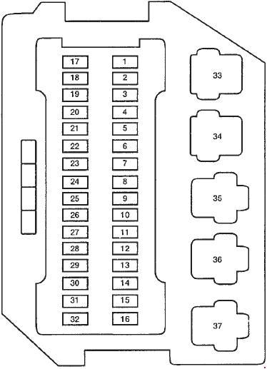 92-'98 mercury villager fuse box diagram  knigaproavto.ru