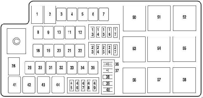10-'11 Mercury Milan & Hybrid Fuse Box Diagramknigaproavto.ru