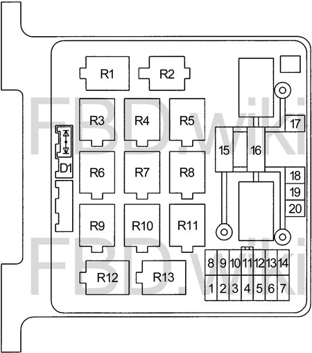 98-'02 honda passport fuse box diagram  knigaproavto.ru
