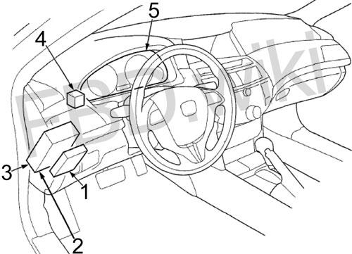 Схема предохранителей Honda Crosstour (2009-2015)