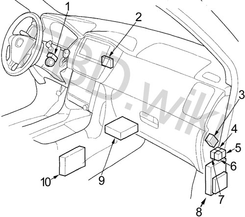 03-'08 Honda Pilot Fuse Box Diagram | 2005 Honda Pilot Vtm 4 Wiring Diagram |  | knigaproavto.ru