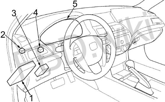 Схема предохранителей Honda Accord 8 (2007-2015)