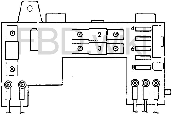 88-'91 Honda Civic & CR-X Fuse Box Diagramknigaproavto.ru