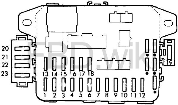 Схема предохранителей Honda Civic 4 & CR-X (1987-1991)
