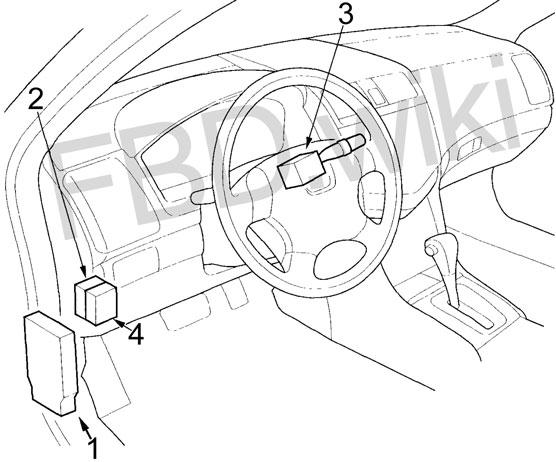 2003-2007 Honda Accord Fuse Box Diagram