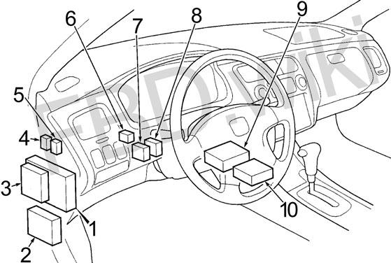 97-'02 Honda Accord Fuse Diagram | 1998 Accord Fuse Diagram |  | knigaproavto.ru