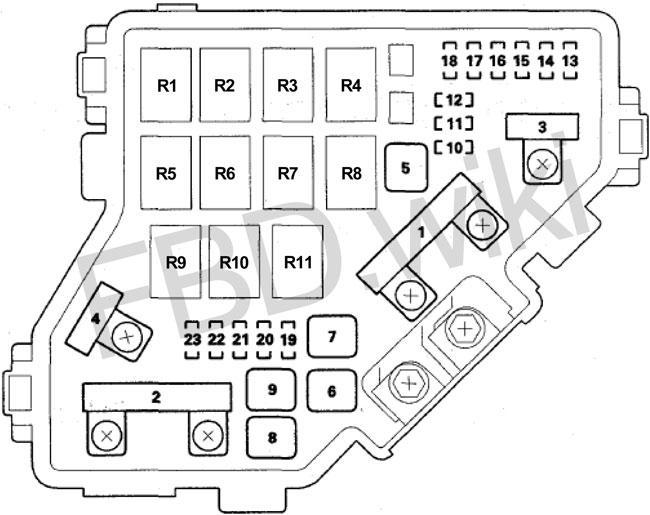 09-'15 honda pilot fuse diagram  knigaproavto.ru