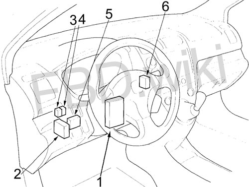 2001-2005 Honda Civic Fuse Diagram