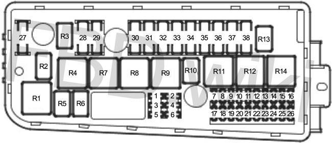 02-'12 Saab 9-3 Fuse Diagramknigaproavto.ru