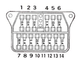 1971-1974 Toyota Crown Fuse Box Diagram