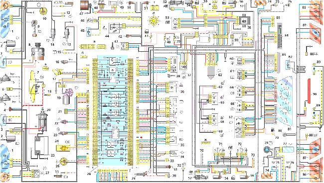 Схема электрооборудования  ВАЗ 2113 / 2114 / 2115