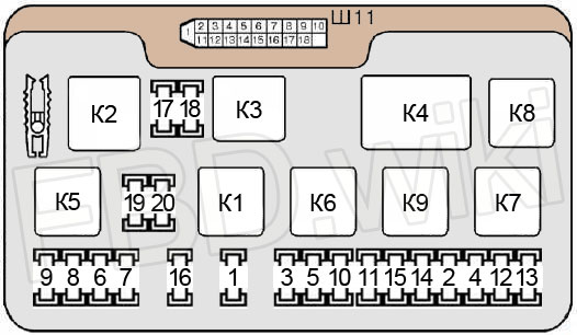 Схема предохранителей и реле ВАЗ 2114, 2115, 2113