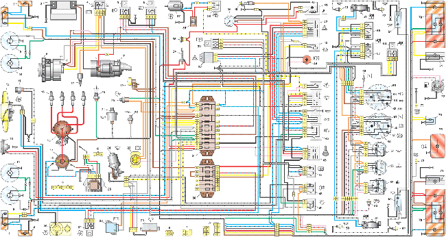 Схема электрооборудования ВАЗ 2106