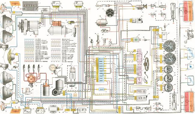 Схема электрооборудования ВАЗ 2103