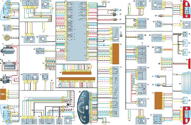 Схемы электрооборудования Лада Калина (2004-2013)